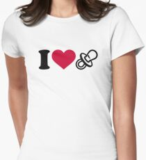 I love Pacifier Women's Fitted T-Shirt