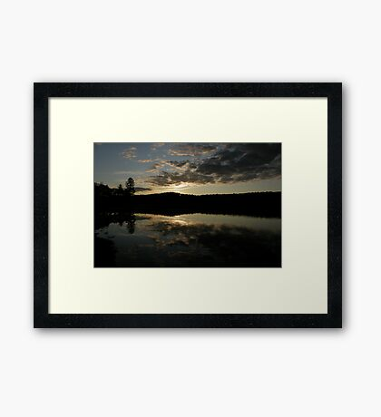 Sunset at Gorham Pond Framed Print