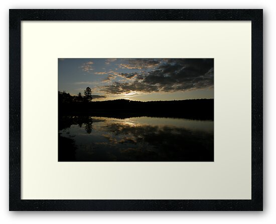 Sunset at Gorham Pond by Len Bomba