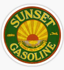 Sunset Gasoline and petroleum Sticker