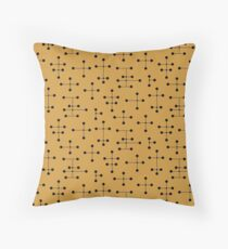 Midcentury Modern Dots 106 Throw Pillow