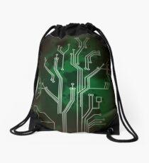 Circuit Board (Green) Drawstring Bag