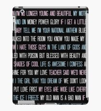 Lana Del Rey Lyrics Overload iPad Case/Skin