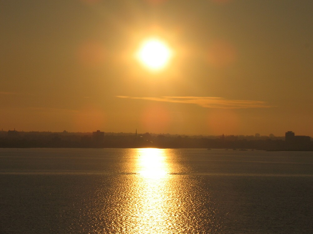 the sun from the Spirit of Tasmania. by Abigail Livingstone