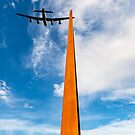 Lancaster over the IBCC Spire by Gary Eason