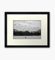 Textured Clouds Over Snow Framed Print