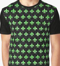 ROYAL1 BLACK MARBLE & GREEN WATERCOLOR (R) Graphic T-Shirt