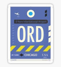 ORD Chicago airport code Sticker