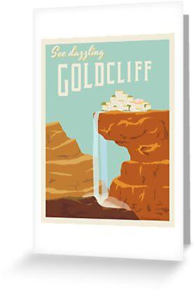«Cartel de viaje de Goldcliff» de atlasbeetles