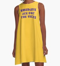 Sundays are for the Vikes 1 A-Line Dress