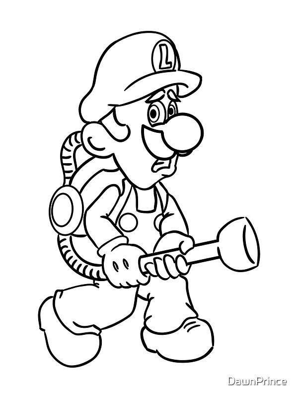 mario mansion coloring pages - photo#17