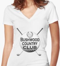 Bushwood Country Club Women's Fitted V-Neck T-Shirt