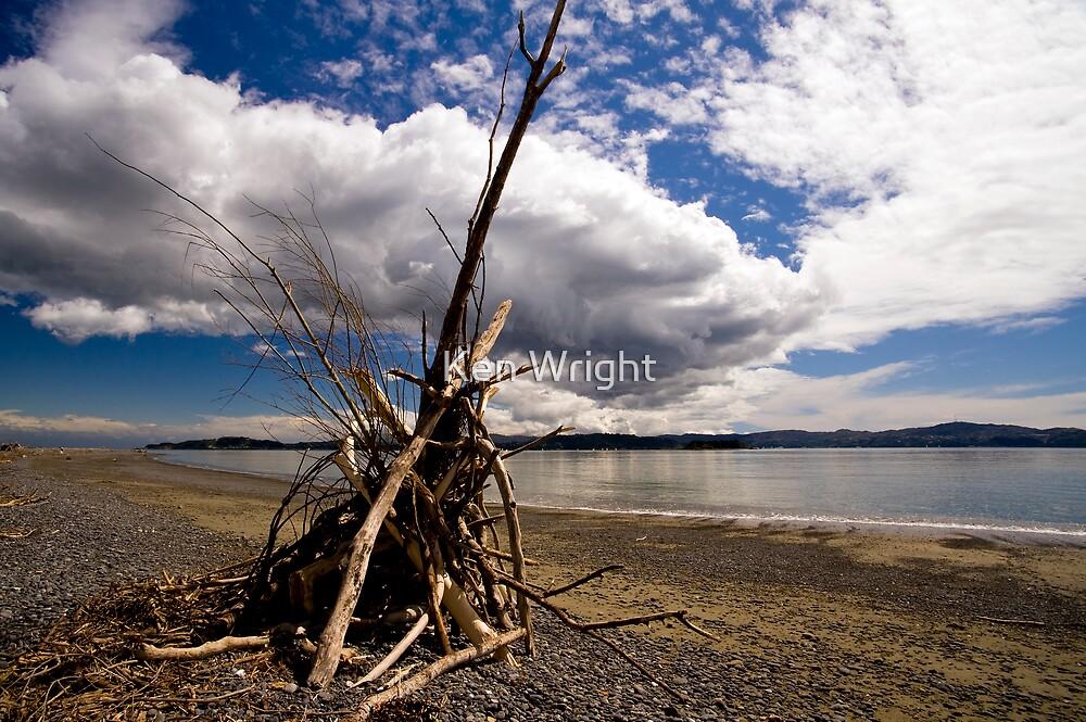 Beach Bivouac   by Ken Wright