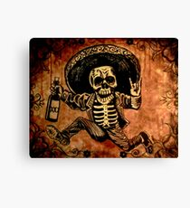 Posada Day of the Dead Outlaw Canvas Print