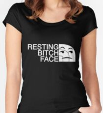 """Resting Bitch Face"" TNF Parody T-Shirt Women's Fitted Scoop T-Shirt"