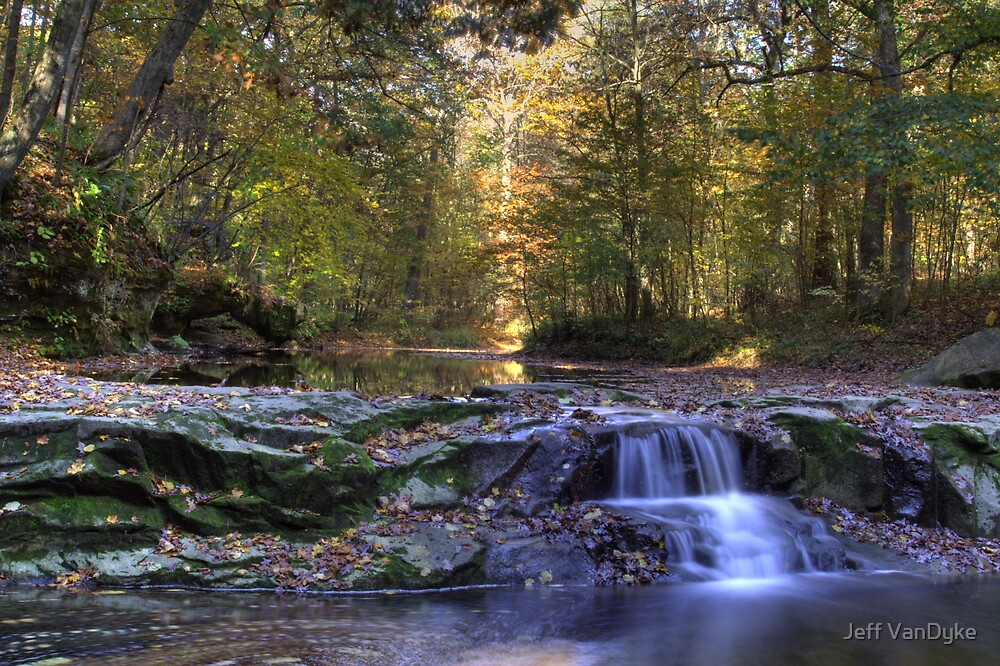 Fall Creek Gorge - Waterfall by Jeff VanDyke