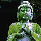 Green Buddha, Kyoto, Japan by Roz McQuillan
