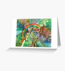The Rainbow Cocoon Greeting Card