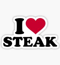 I love Steak Sticker