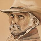 Gus McCrae  Lonesome Dove  Pastel by Linda Sparks