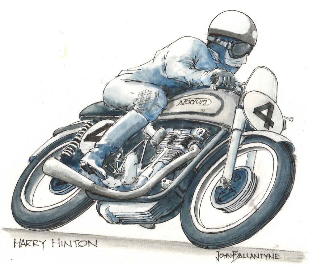 Harry Hinton Manx Norton by John Ballantyne