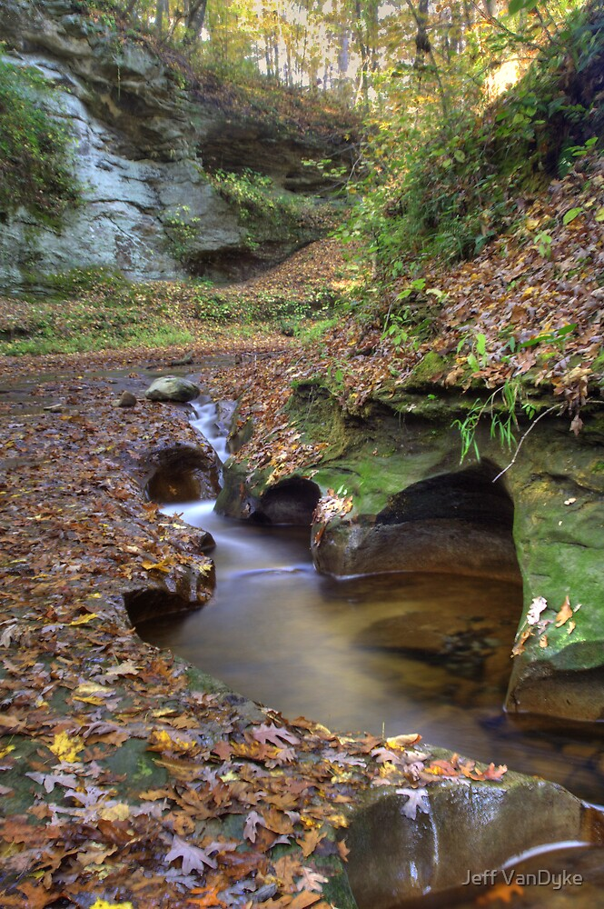 Fall Creek Gorge - Carved Rock #2 by Jeff VanDyke