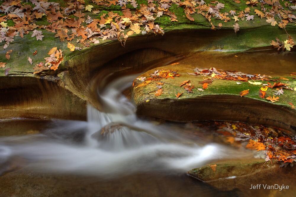 Fall Creek Gorge - Water Slide by Jeff VanDyke