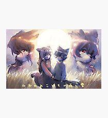 Les enfants loups Ame et Yuki Photographic Print