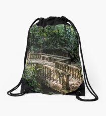 Bridge to the Secret Jungle Drawstring Bag