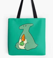 Hadrosaur Holding a Carrot Tote Bag