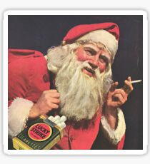 Smoking santa claus Sticker