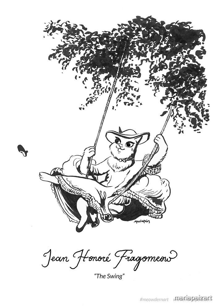 #meowdernart - Jean-Honoré Fragomeow by mariapaizart