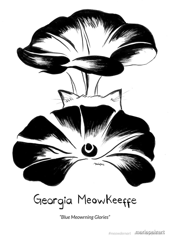 #meowdernart - Georgia Meowkeeffe by mariapaizart