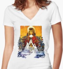 Labyrinth Poster Women's Fitted V-Neck T-Shirt