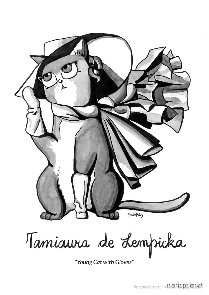 #meowdernart - Tamiaura de Lempicka by mariapaizart