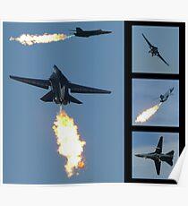 F-111 Dump & Burn Poster