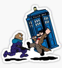Doctor Mario Who Sticker