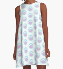 Pastel Shell A-Line Dress