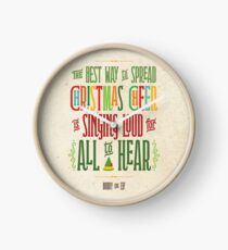 Buddy the Elf - Christmas Cheer Clock
