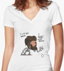Bobo likes your boots Women's Fitted V-Neck T-Shirt