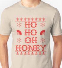 """HO HO OH HONEY"" Christmas Sweater T-Shirt"
