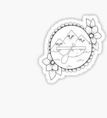 a lil adventure Sticker