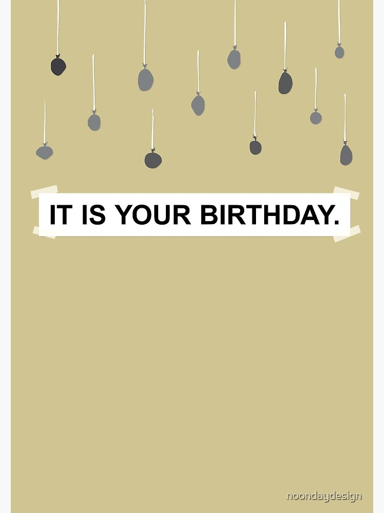It Is Your Birthday.The Office It Is Your Birthday Spiral Notebook