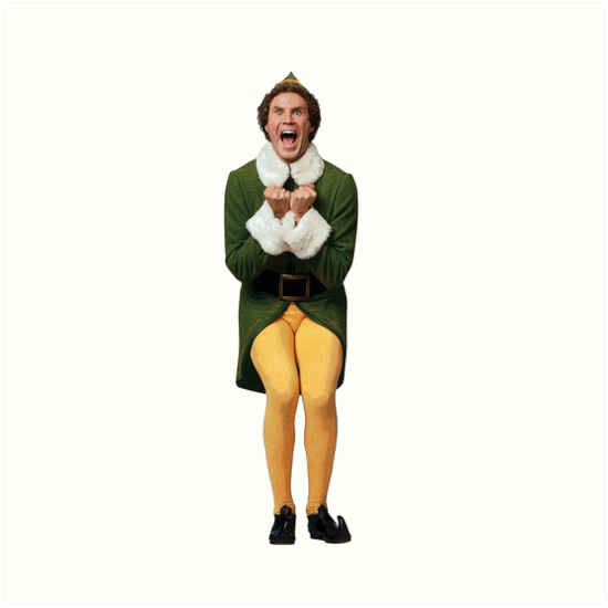 """BUDDY THE ELF! Will Ferrell Elf Christmas movie"" Art ..."