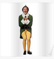 BUDDY THE ELF! Will Ferrell Elf Christmas movie Poster
