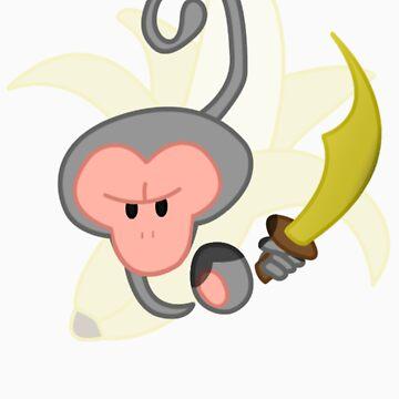 Evil Monkey - w. Banana by StudioColrouphobia