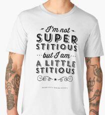 The Office Dunder Mifflin Michael Scott Quote - Superstitious Men's Premium T-Shirt