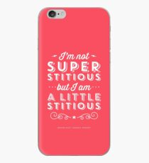 The Office Dunder Mifflin Michael Scott Quote - Superstitious iPhone Case