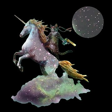 Funny Cat Riding Unicorn by PremiumDesignz