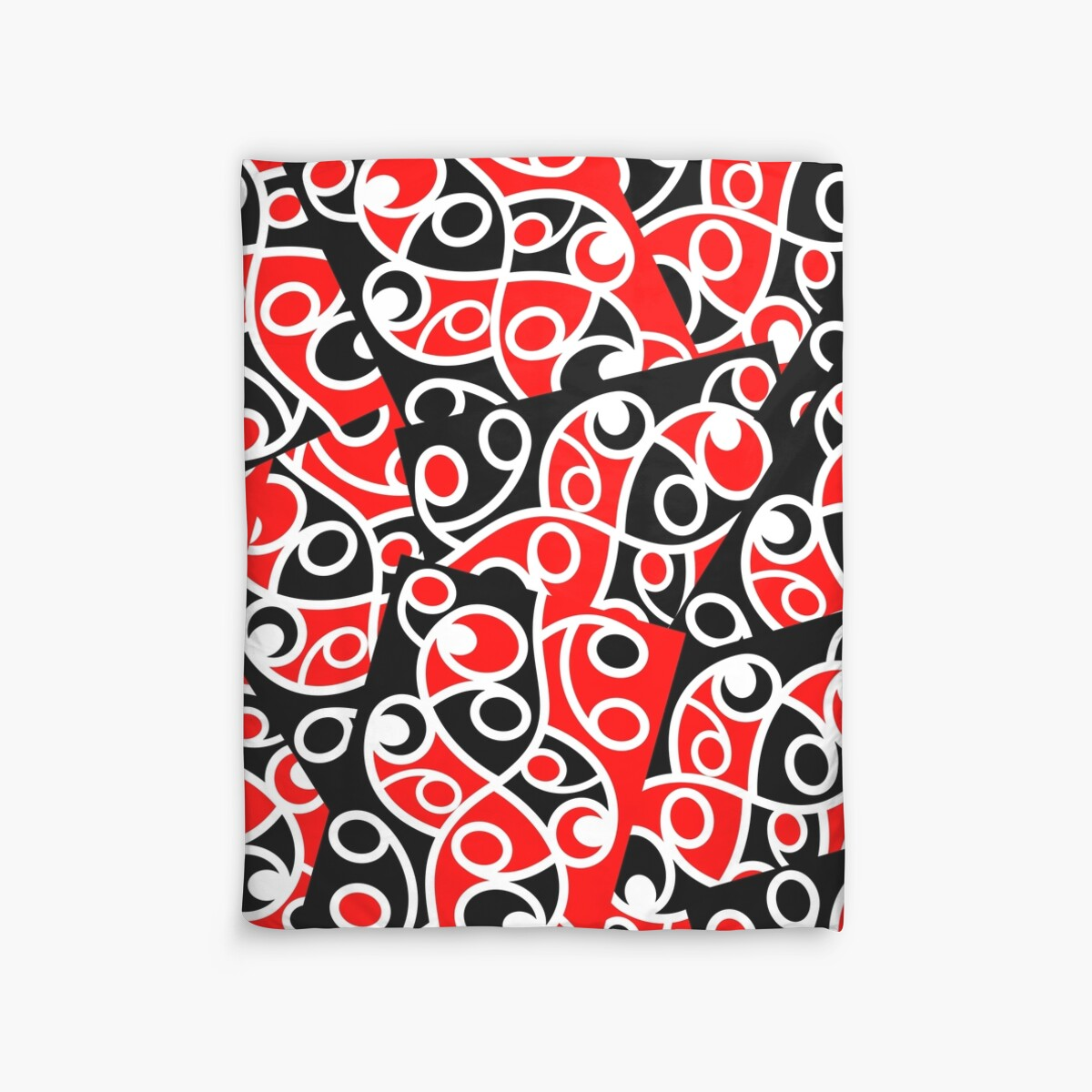Quot Maori Kowhaiwhai Layered Pattern Quot Duvet Covers By